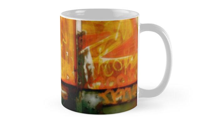 graffitti wall mug cup