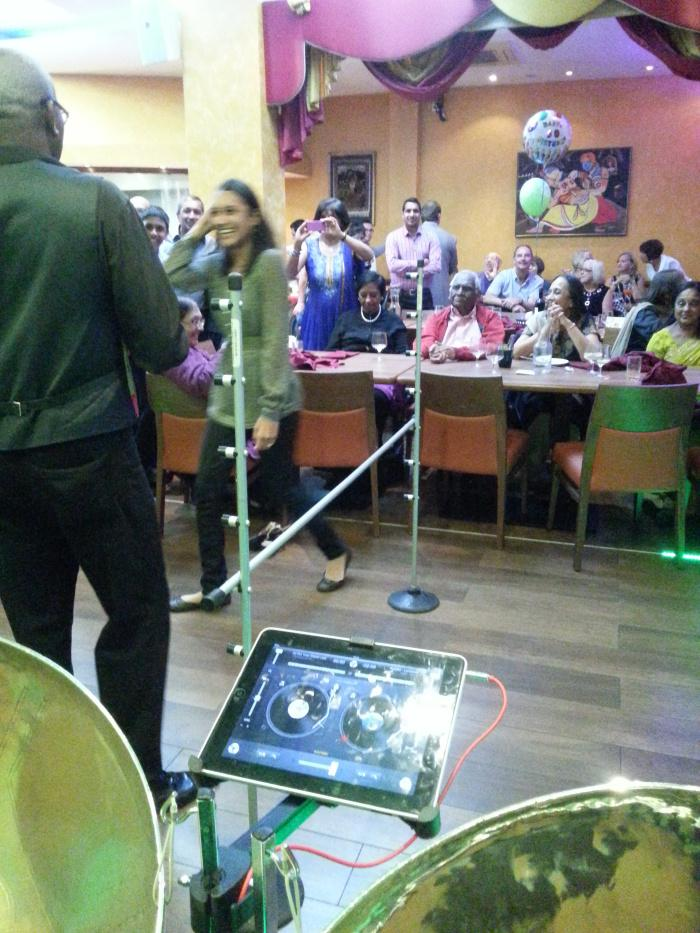 Caribbean Dj Limbo Dance Steel band limbo by design Groom Bride Party